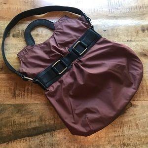 Brooklyn industries maroon black purse bag